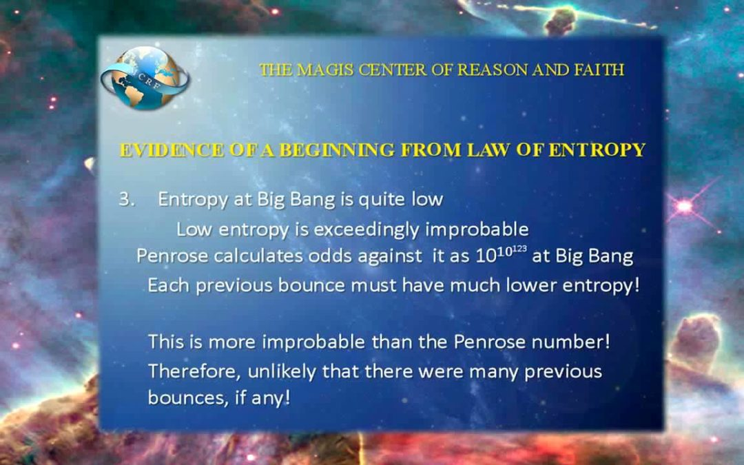 Evidence of a Beginning of the Universe from the Law of Entropy