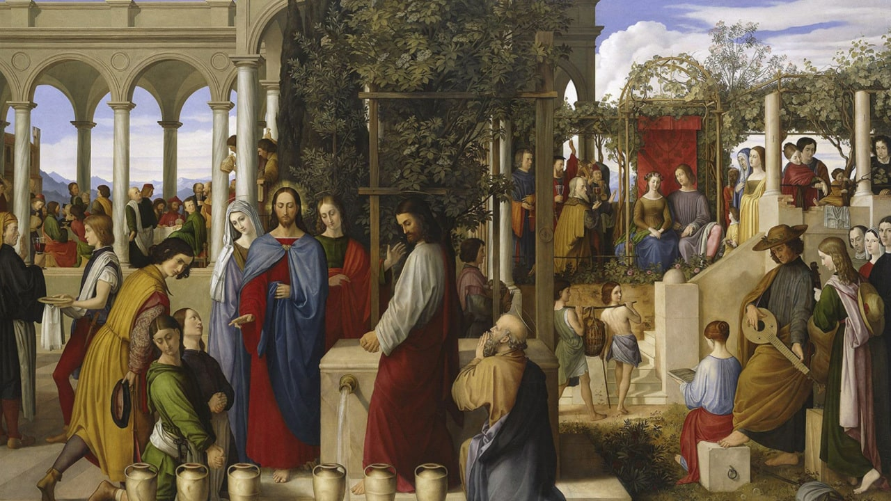 painting of the Wedding Feast at Cana